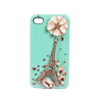 Handmade hard case for iPhone 4 &amp; 4S: Bling Eiffel tower with crystals (custom are welcome)
