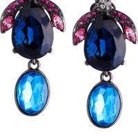 Oscar de la Renta Crystal bug clip earrings – 50% at THE OUTNET.COM