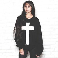 CROSS CREW NECK SWEATSHIRT
