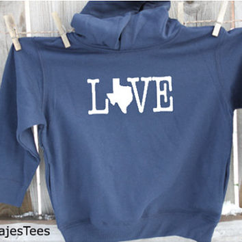 Love Texas Hoodie, Texas Sweatshirt, Toddler, kids, youth