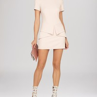 BCBGMAXAZRIA Dress - Madalyn Draped Peplum Shift