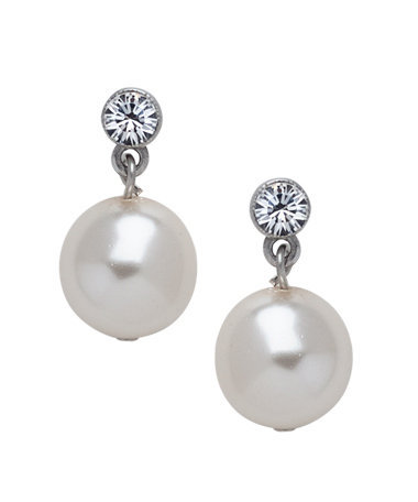 Ben-Amun Crystal Pearl Earrings - Max & Chloe