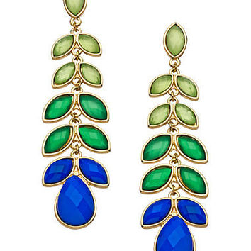 Blue Bijoux Blue Green Long Stem Earrings - Max & Chloe