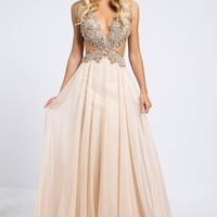 Chiffon Side Cutout Dress 98123 - Prom Dresses