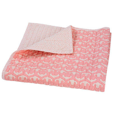 DwellStudio Kids Quilted Organic Mix &amp; Match Play Blanket Filigree Blossom