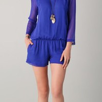 Heather Long Sleeve Chiffon Romper | SHOPBOP