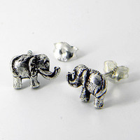 Elephant Sterling silver earrings.