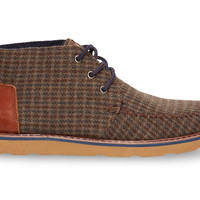 Brown Beardy Houndstooth Men's Chukka Boots