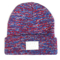 Quiet Life: Marled Beanie - Red / Blue - Red / Blue / One
