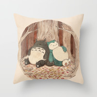 Best Friends Forevah Throw Pillow by Najmah Salam