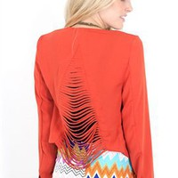 West Coast Wardrobe Slash Back Blazer