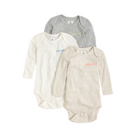 Baby Long-Sleeve One-Pieces Three-Pack