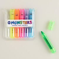 Mini Monster Scented Neon Markers - World Market
