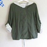 Army Green Lace Trench Coat$44.00