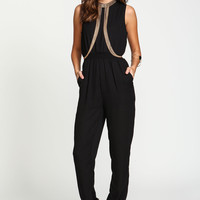 Gold Rush Drapey Bodychain Jumpsuit