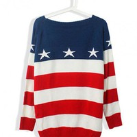 Striped Long Sleeve with Star Sweater$39.00