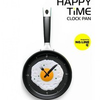 I&#x27;m checking out Pan Fried Egg Novelty Wall Clocks on Shoply.com, The Social Shopping Marketplace.