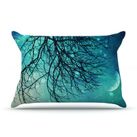 "Sylvia Cook ""Winter Moon"" Pillow Case"