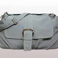Gray Canvas Bag handheld shoulder messenger bag