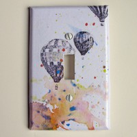 Hot Air Balloons Decorative Light Switch Plate Cover by idillard