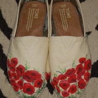 Custom TOMS  Field of Poppies price includes by purplelizard64