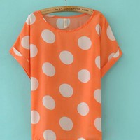 Big Polka Dot T-Shirt Orange$0.00
