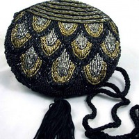 Vintage Beaded Circular Evening Bag
