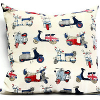 British Pillow cover - 18x18 Decorative cushion cover, throw pillows, envelope pillow covers, man gift, union jack