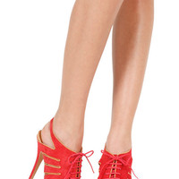 Schutz Ashley Espadrille Sandal in Tomato