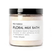 FLORAL MILK BATH - large glass jar - skin-softening - relaxing - beautifying - aromatherapeutic