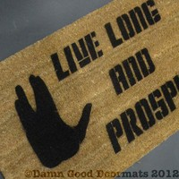 Star Trek Live Long and Prosper Vulcan doormat | Damn Good Doormats