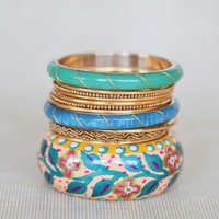 flora daydreams bangle set at ShopRuche.com