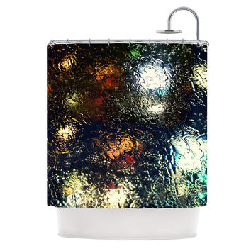 """Robin Dickinson """"Blinded"""" Water Black Shower Curtain - 69"""" x 70"""" / Polyester"""