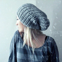 Ice Blue Slouchy Hat