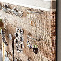 Drawer Pulls As Jewelry Hangers These look so...