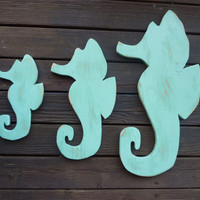 Seahorse Family Indoor Outdoor Wall Art