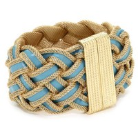 RAIN Gold and Turquoise Braided Bracelet - designer shoes, handbags, jewelry, watches, and fashion accessories | endless.com