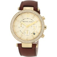 Michael Kors Women's MK2249 Parker Brown Watch - designer shoes, handbags, jewelry, watches, and fashion accessories | endless.com