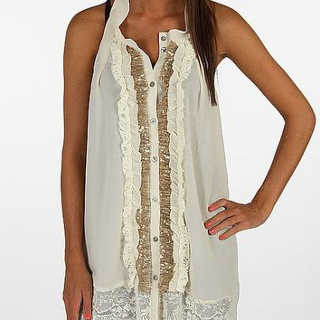 BKE Boutique Button Front Tank Top - Women's Shirts/Tops | Buckle