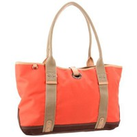 Franco Sarto Tosca Large FS0401-NYTAG Tote,Tangerine/Brown,One Size - designer shoes, handbags, jewelry, watches, and fashion accessories | endless.com