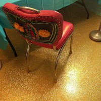 Diary of a Crafty Chica: Mi Vida Loca: How To Glitter A Concrete Floor