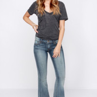 Livin' on a Flare Distressed Medium Wash Flare Jeans