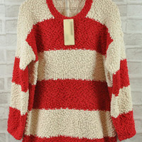 Coarse Stripe Joker Sweater $39.00