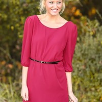Sugar & Spice Tunic-Burgundy
