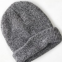 AEO Men's Wear America Ribbed Beanie (Heather Grey)