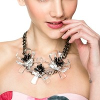 Floral Mania Statement Crystal Necklace