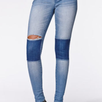 Kendall & Kylie High Rise Block Skinniest Jeans - Womens Jeans - Blue -