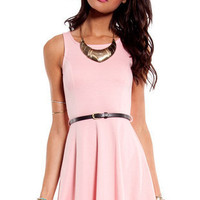 Belt and Flare Dress $44