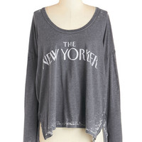ModCloth Mid-length Long Sleeve Newstand-out Top