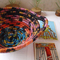 Karma Coiled Basket by YellowViolet on Etsy